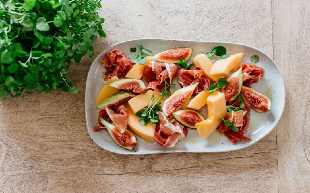 MELON, FIG AND PROSCIUTTO PLATE